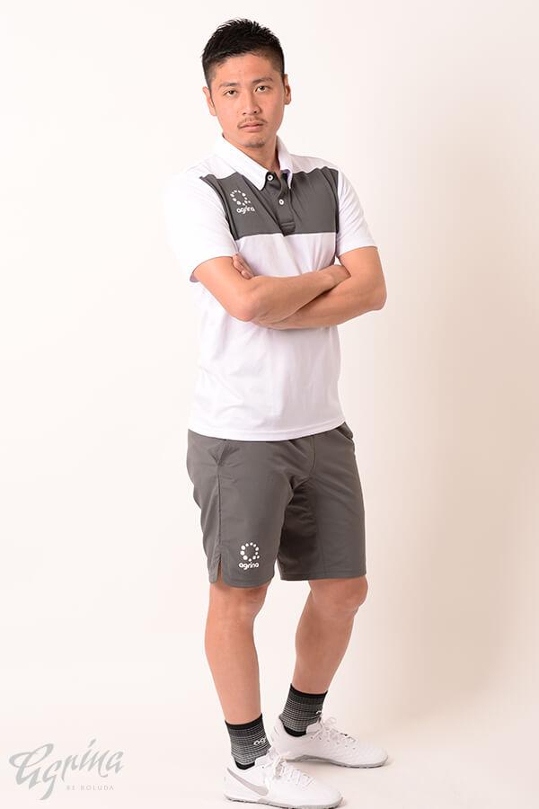 アルモ切替半袖ポロシャツ White