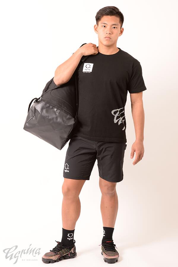 ピンパンティコットンTシャツ Black
