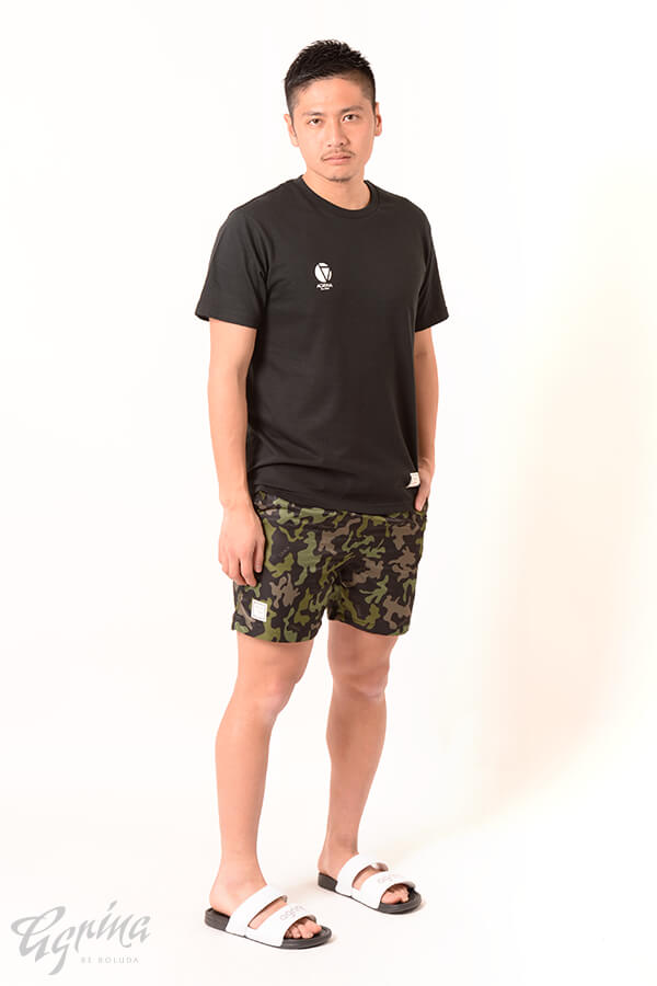 CRACKベリエコットンTシャツ Black