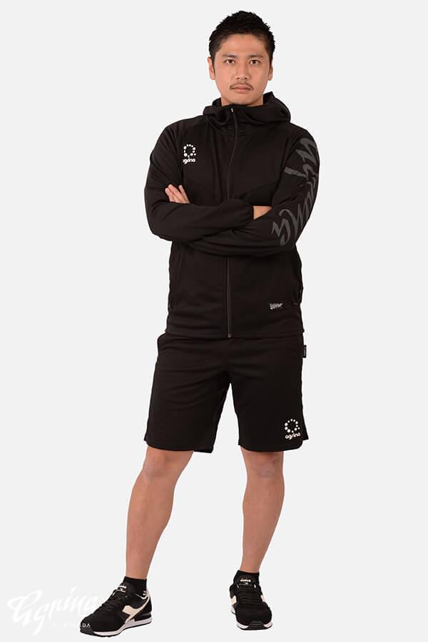 デセアルトレーニングジャージフーデッドジャケット Black