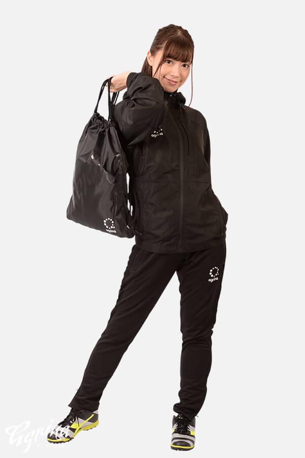 アバンサフーデッドジャケット Black