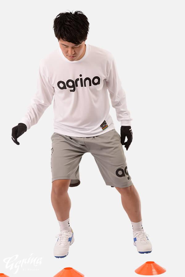 グランデロングスリーブプラクティスシャツ White