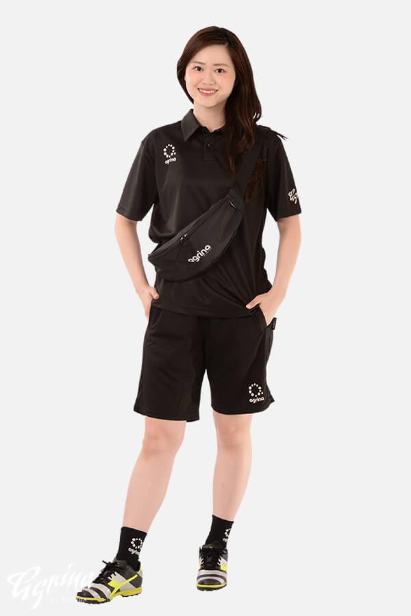 エスティロ半袖ポロシャツ Black