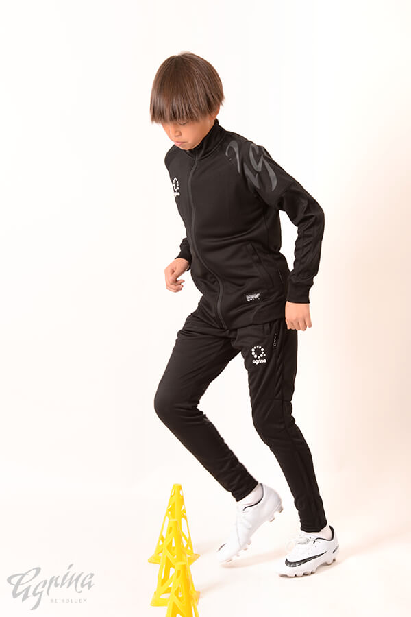 ジュニアデセアルトレーニングジャージジャケット Black