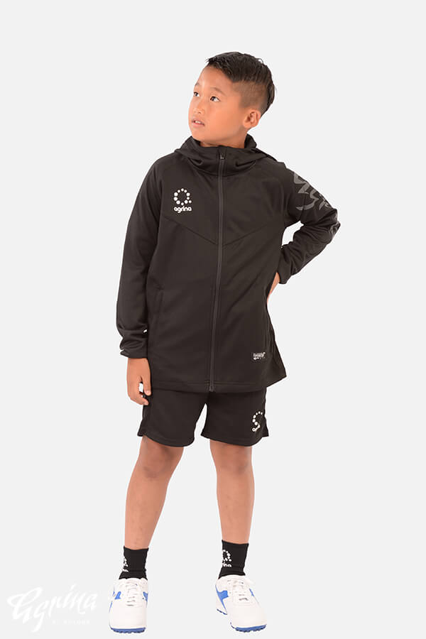 ジュニアデセアルトレーニングジャージフーデッドジャケット Black