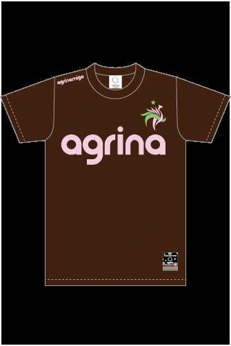 アグリナミーゴコットンTシャツ Chocolate