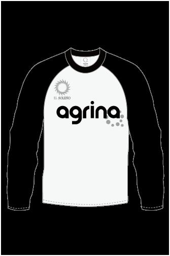 エルグランロングTシャツ White×Black