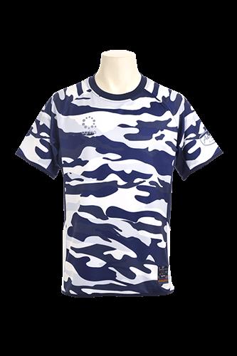 クデフ昇華プラシャツ WhiteCamo