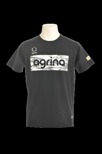 カモグラコットンTシャツ Black