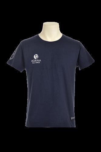 CRACKプリメロコットンTシャツ Navy