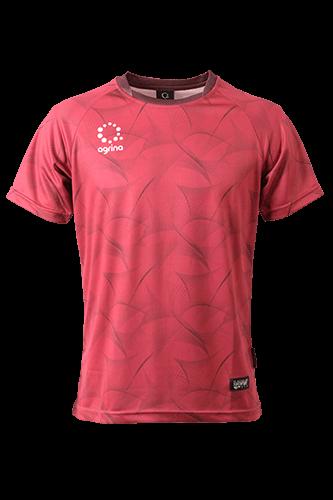 シルクイナフィットプラシャツ WineRed