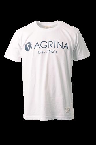 CRACKレグラコットンTシャツ White