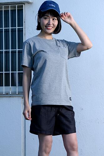 アグリナ CRACKボルダチコポケットTシャツ