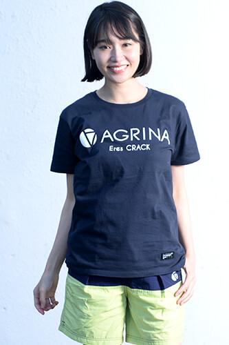 アグリナ CRACKマルグスタルコットンTシャツ