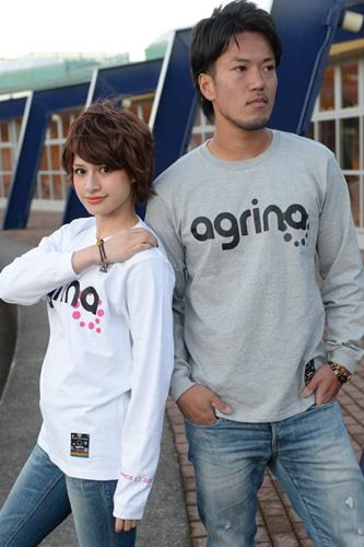 アグリナ オンビグラコンロングTシャツ